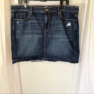 Loft outlet jean skirt size 16